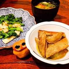 Potato dinner :) #mizumushikun #potato #friedpotato #yummy #foodie #delicious #japan #miso #dinner #cooking #vegetable #kyoto