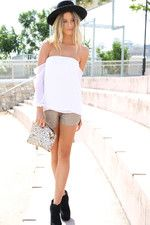 Off the shoulder chiffon top by Sabo Skirt
