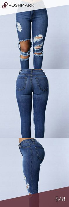 New Beach Bum Jeans These jeans are new and never worn. In the size one. Fashion Nova Jeans Boyfriend