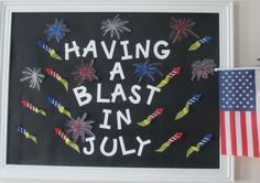 July bulletin board