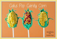Mind Blown over this cuteness.  Cake Pop Candy Corn Treats ~ Perfect for a fall celebration! www.uncommondesignsonline.com #recipes