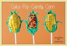 Cake Pop Candy Corn Treats via uncommondesignsonline.com