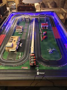 Building of a slot car tracks and by mike nyberg slot cars Ho Slot Cars, Slot Car Racing, Slot Car Tracks, Race Tracks, Scalextric Track, Carrera Slot Cars, American Ninja Warrior, Slot Machine Cake, Cars 1