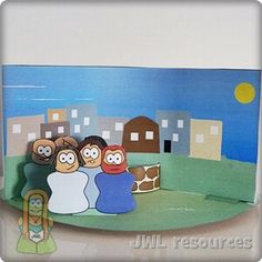 Woman at the well (John Bible Crafts For Kids, Bible Lessons For Kids, Ginger Wraps, Children's Church Crafts, John 4, Class Activities, Kids Church, Sunday School, Arts And Crafts