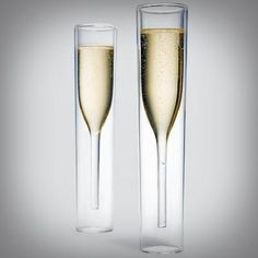 Flutes à champagne inside-out glasses