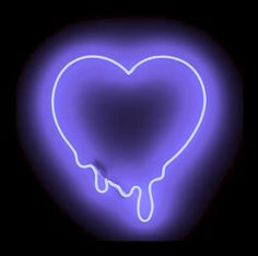 neon purple heart light