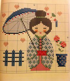Kokeshi perler bead pattern
