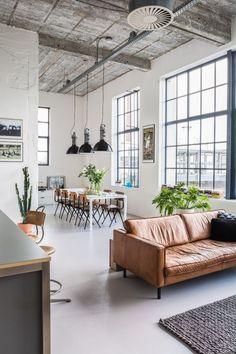Interieur, vintage, industrieel