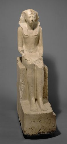 Hatshepsut, New Kingdom, Dynasty 18, reign of Hatshepsut, ca. 1473–1458 B.C.  Egyptian; From Deir el-Bahri, western Thebes  Indurated limestone