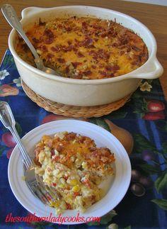 SCALLOPED CORN CASSEROLE   The Southern Lady Cooks