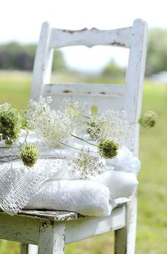 Some of these pretty flowers are going into the little white bedroom................
