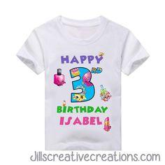 Shopkins T-Shirt, Birthday Girl and Name