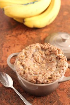Healthy Banana Bread Baked Oatmeal for One - Made Aug 2012. Yummy!!!! Made in 5-6 Pam'd cupcake liners instead of one dish. Not sure if you need to Pam it but read another similar recipe that said you do. Great frozen and microwaved in the morning.