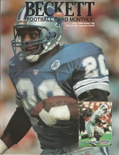 2b41a4da beckett football card monthly july 1992 issue barry sanders cover deion  sanders from $10.0