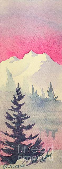 Alaska Winter. watercolor, approx. 3.5 x 7.5