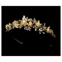 Champagne Flower Garden Bridal Headband, Teresa | Wedding Hair Accessories, Jewelry, Favors and More | Jena Richards