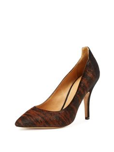 Pippa Calf Hair and Suede Pointed Toe Pump by Isabel Marant at Gilt