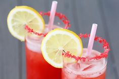 Sparkling Strawberry Lemonade- ADD SOME POP ROCKS ON THE RIM OF THE GLASS FOR SOME EXTRA FUN! {Gimme Some Oven}