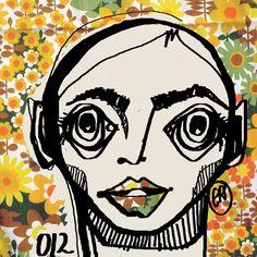 Cabezona012_¿ah?... #cabezonasdeela #cabezonas2017 #ilustracion #illustration #rostro