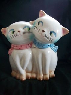 RARE MINT GRANT HOLT HOWARD COZY KITTEN CAT KITTY COOKIE JAR CANISTER PIXIEWARE
