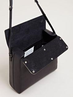 e5d0b425f6ba Maison Martin Margiela Womens Mirror Top Shoulder Bag Leather Laptop Bag