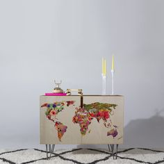 Bianca Green Its Your World Credenza | DENY Designs Home Accessories