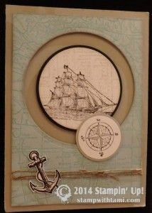 CARD: The Open Sea Ship Porthole | Stampin Up Demonstrator - Tami White - Stamp With Tami Crafting and Card-Making Stampin Up blog