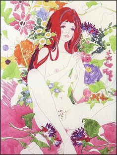 Belladonna of Sadness, the final film in the adult-oriented Animerama trilogy, is one of the great forgotten masterpieces of Japanese anime. Alphonse Mucha, Pretty Art, Cute Art, Painting Inspiration, Art Inspo, Belladonna Of Sadness, Drawn Art, Klimt, Psychedelic Art