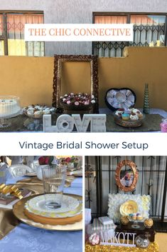 Creating great design concepts - this was a simple fun vintage tea party garden setup Contact us on thechicconnective@gmail.com