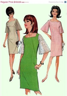 On SALE Vintage 60s Sewing Pattern McCalls 8307 MOD by sandritocat, $11.05