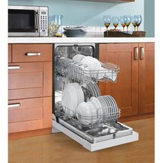 Danby Built-in Dishwasher in White Image 3 of 5 Built In Dishwasher, Mini Dishwasher, Drawer Dishwasher, Mini Kitchen, New Kitchen, Kitchen Ideas, Basement Kitchen, Kitchen Organization, Small Kitchens
