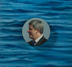 Portrait of Stephen Harper by Katherine McNenly