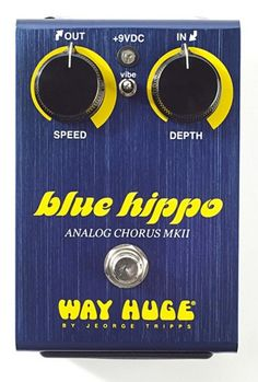 Way Huge WHE601 Limited Edition Blue Hippo MkII Analog Chorus Guitar Effects Pedal