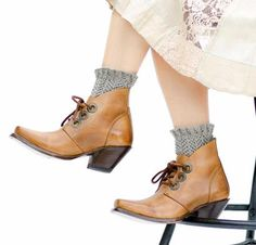 Mary Jane - Lacy Liners for Short Boots by Pam Powers Knit Kit