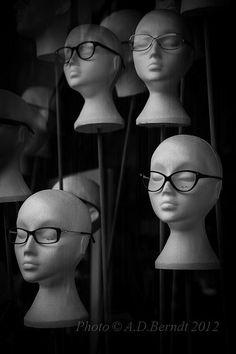 Opticians Shop Window, Harrogate, England.