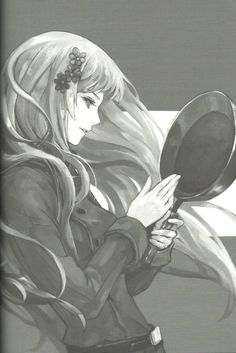 Hungary from Hetalia Axis Powers. She looks very nicely-drawn in this pic even though it's black-and-white. What do you think?
