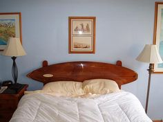 Surfboards for headboards by Charlie Brewer, via Flickr