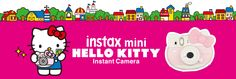 Fujifilm has a camera for all the Hello Kitty fans out there with their Fujifilm Instax Mini Hello Kitty. The camera is shaped like Hello Kitty. Instax Mini Camera, Fujifilm Instax Mini, Hello Kitty, Family Guy, Snoopy, Cute, Sanrio, Fictional Characters, Compact