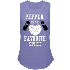 Volleyball Pepper And Spice | Volleyball puns are what volleyball players love. So spike up your fashion sense with this cool tank top. Playing pepper is something that you love to do, you could say it is your favorite spice. Digging this out of your closet, should be exciting every time you want to wear it.