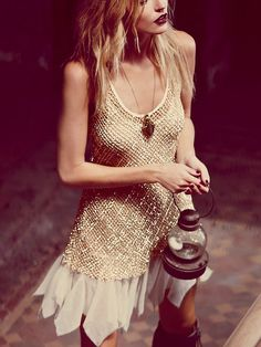 Free People Golden Enchantment Dress