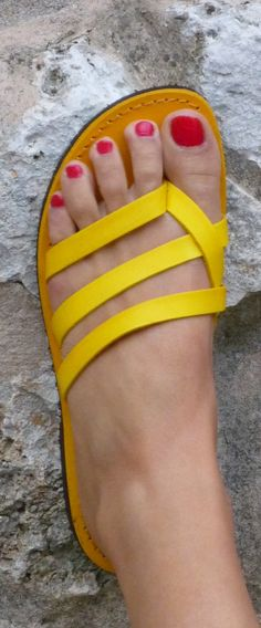 Yellow Summer Sandals 2014. Wonder if it comes in another color?