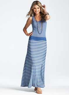 Great 3 Dots Maxi Dress. We have this dress as well as in yellow and grey