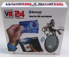 VB24 the complete loss prevention and identity shielding package. Protects your valuables your phone and shields your contactless credit cards and biometric passport from RFID/NFC scanning.