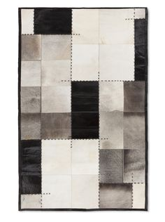 Found it at Wayfair - Texas Black/Grey Geometric Area Rug Black Rug, Black And Grey, Discount Rugs, Contemporary Area Rugs, Cow Hide Rug, Home Living, Living Room, Unique Home Decor, Accent Furniture