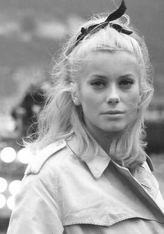 Catherine Deneuve, the prettiest! Look at her gorgeous hair!