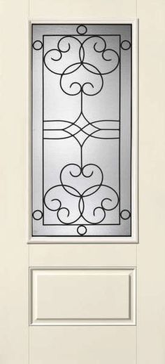 THERMA-TRU SMOOTH STAR SALINAS 3/4 LITE 2 PANEL DOOR