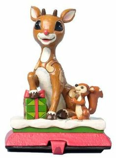 Amazon.com - Jim Shore Rudolph Red Nose Reindeer Stocking Hanger 2013 - Collectible Figurines