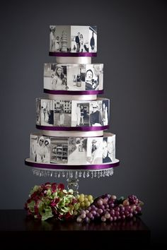 Bournemouth BIC Wedding Show: Photo Memory Cake that's kinda neat... Might do for engagement party.