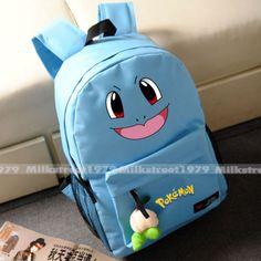 Pokemon-Backpack-Pikachu-Gengar-Squirtle-Wobbuffet-School-Bag-Multiple-Color