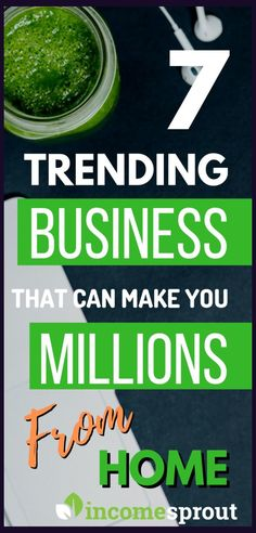 best business that are trending and worth millions. these 7 businesses are the some fastest growing business with the potential of making million check them out and get started quickly. Start A Business From Home, Cash From Home, New Business Ideas, Starting Your Own Business, Home Based Business, Work From Home Jobs, Business Tips, Online Business, Growing Business